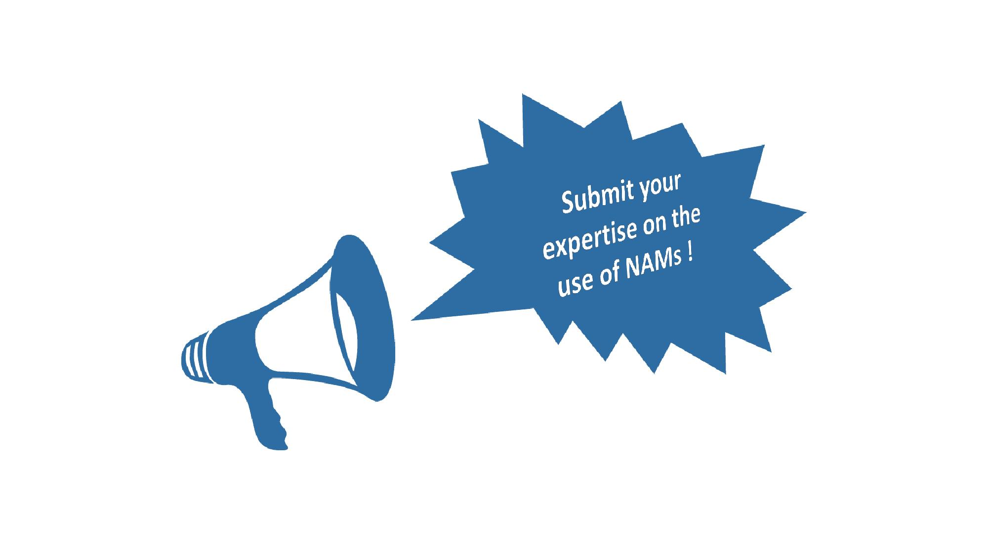 Submit your expertise on the use of NAMs