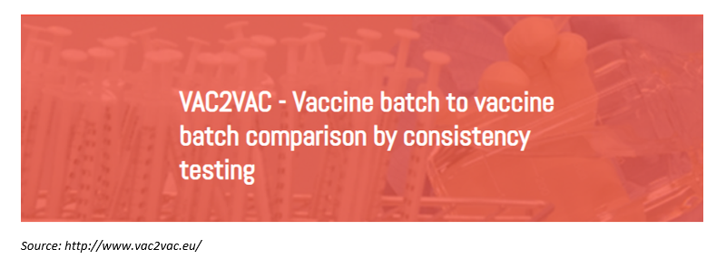 VAC2VAC project : Vaccine batch to vaccine batch comparison by consistency testing